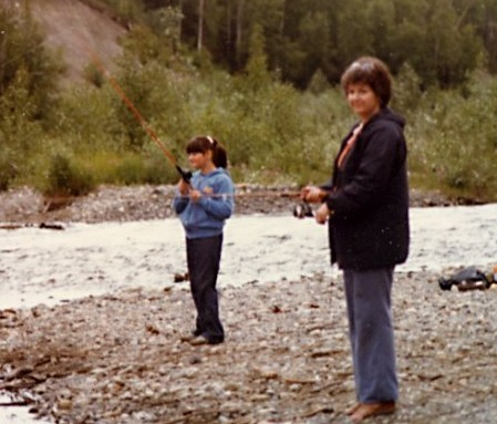 Fishing with my mom in Alaska