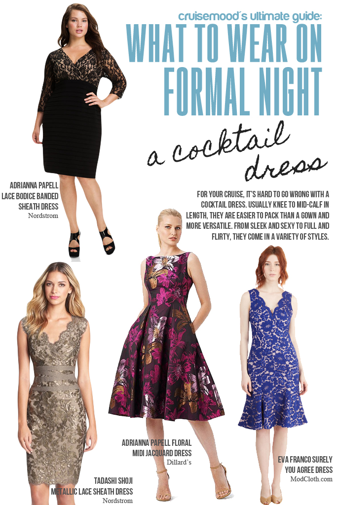 Cocktail Dresses - Cruise Formal Night - cruisemood.com