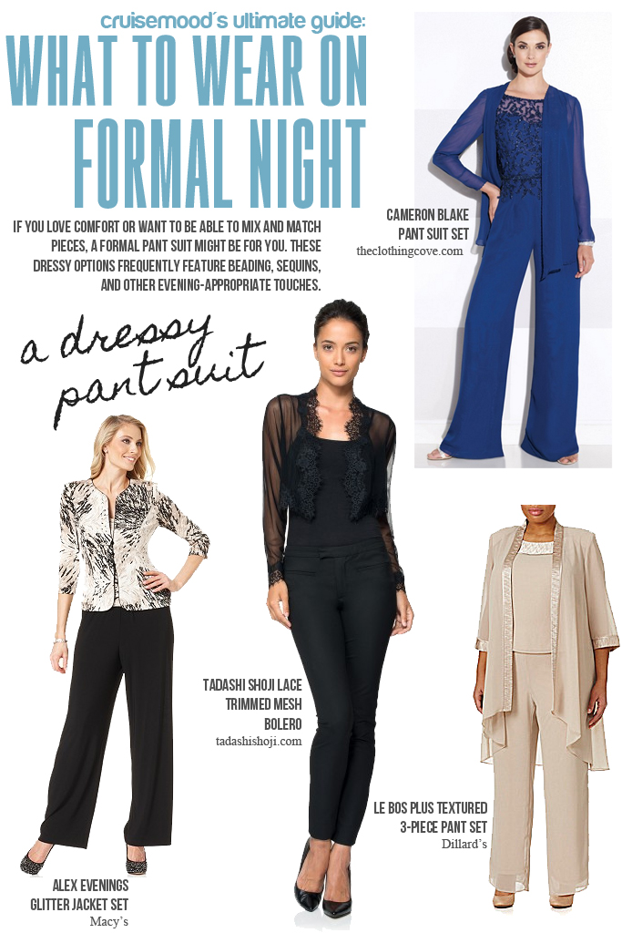 Dressy Pant Suit - Cruise Formal Night - cruisemood.com